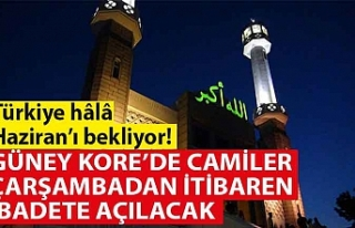 GÜNEY KORE'DE CAMİLER ÇARŞAMBADAN İTİBAREN...
