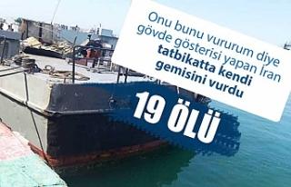 İran donanması tatbikatta kendi gemisini vurdu