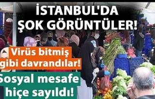 İstanbul'da şok görüntüler! Sosyal mesafe...