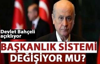 MHP Genel Başkanı Bahçeli: Başkanlık sistemini...