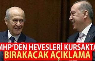 MHP'li Semih Yalçın'dan hevesleri kursaklarda...