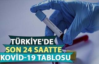 Türkiye'de son 24 saatte kovid-19 tablosu