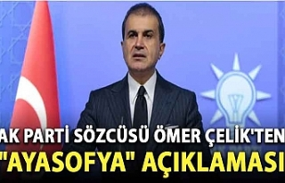"""AK Parti Sözcüsü Ömer Çelik'ten """"Ayasofya""""..."""