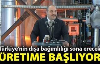 Bakan Mustafa Varank duyurdu: Türkiye'de üretime...
