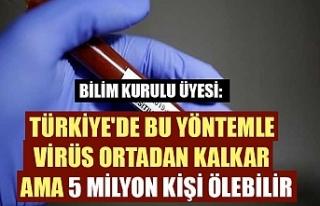 Bilim Kurulu Üyesi: Türkiye'de bu yöntemle...