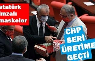 CHP'li vekillere Atatürk imzalı maske dağıtıldı