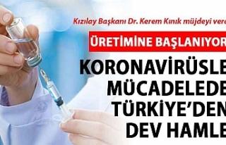 Kızılay Başkanı müjdeyi verdi: Pasif aşı üretimine...