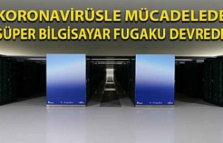 Koronavirüsle mücadelede süper bilgisayar Fugaku...