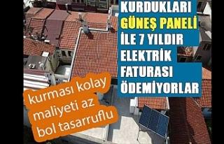 Kurdukları güneş paneli ile 7 yıldır elektrik...