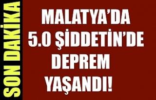 Malatya'da meydana gelen 5.0 büyüklüğündeki...