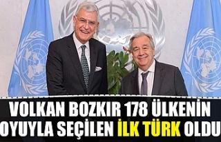 Volkan Bozkır 178 ülkenin oyuyla seçilen ilk Türk...