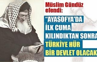 Ayasofya'da ilk cuma kılındıktan sonra Türkiye...