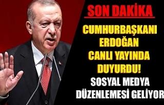 Cumhurbaşkanı Erdoğan canlı yayında duyurdu!...