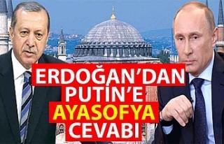 Cumhurbaşkanı Erdoğan'dan Putin'e Ayasofya...