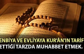 Enbiya ve evliyaya Kur'ân'ın tarif ettiği...