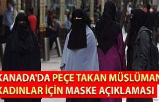 Kanada'da peçe takan Müslüman kadınlar için...