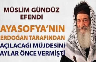 Müslim Gündüz Efendi, Ayasofya'nın Erdoğan...
