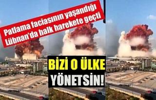 Patlama faciasının yaşandığı Lübnan'da halk...