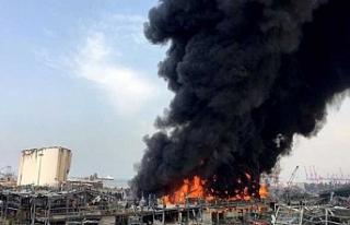 Beyrut Limanı'nda korkutan yangın