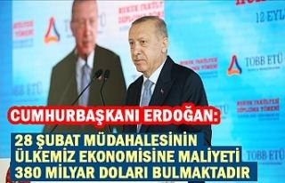 Cumhurbaşkanı Erdoğan: 28 Şubat müdahalesinin...