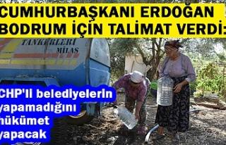 Cumhurbaşkanı Erdoğan Bodrum için talimat verdi:...