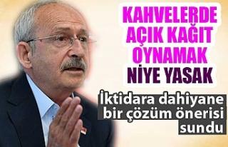 Kemal Kılıçdaroğlu'ndan kahvehane önerisi:...