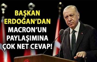 Macron Türkçe paylaşım yapmıştı... Erdoğan'dan...