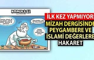 Mizah dergisinde Peygambere ve İslami değerlere...