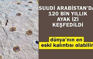 Suudi Arabistan'da 120 bin yıllık ayak izi keşfedildi