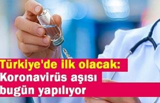 Türkiye'de ilk olacak: Koronavirüs aşısı...