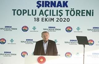 Cumhurbaşkanı Recep Tayyip Erdoğan, Şırnak'ta...