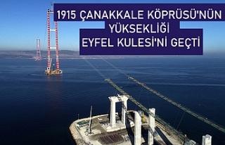 1915 Çanakkale Köprüsü'nün yüksekliği...