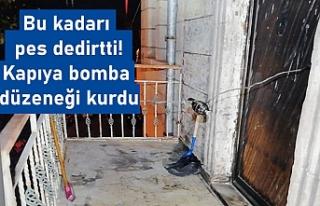 Ayrılmak isteyen eşinin kapısına bomba düzeneği...