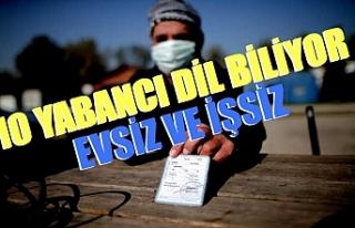 Bursa'da 10 yabancı dil bilen evsiz yardım...