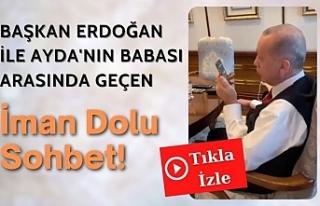 Cumhurbaşkanı Erdoğan ile Ayda'nın babası...