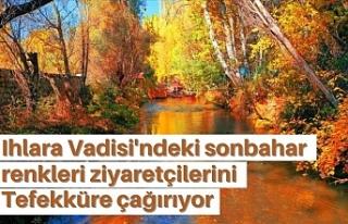 Ihlara Vadisi'ndeki sonbahar renkleri ziyaretçilerini...