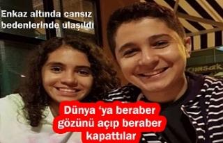 İzmir'de ikiz kardeşlerin cansız bedenleri...