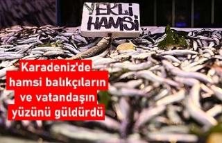 Karadeniz'de hamsi balıkçıların ve vatandaşın...