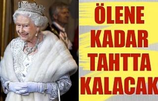 Kraliçe Elizabeth'in son kararı: Ölene kadar...