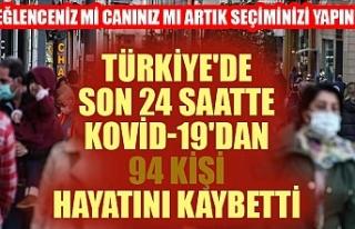 Türkiye'de son 24 saatte Kovid-19'dan 94...