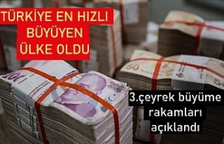Türkiye ekonomisi yılın üçüncü çeyreğinde...