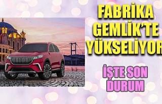 Türkiye'nin Otomobili'nin üretim tesisinde...