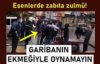 Zabıtalar İstanbul Esenler'de kağıt toplayanlara...