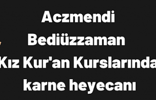 Bediüzzaman Kız Kur'an Kursu Yarıyıl tatiline...
