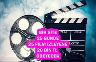 Bir Site, 25 Günde 25 Film İzleyene 2.500 Dolar...