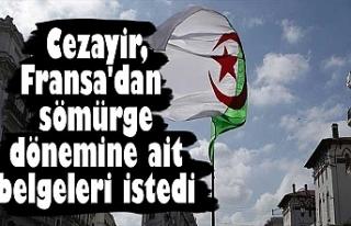 Cezayir, Fransa'dan sömürge dönemine ait belgeleri...