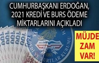 Cumhurbaşkanı Erdoğan, 2021 kredi ve burs ödeme...