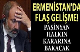 Ermenistan'da flaş gelişme! Paşinyan istifaya...