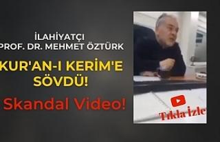 """İlahiyatçı Prof. Dr. Mustafa Öztürk: """"Kur'an-ı..."""