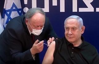 İsrail'de ilk Kovid-19 aşısı canlı yayında...
